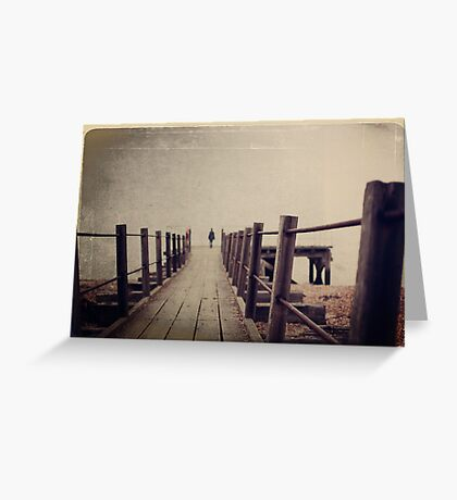 At the edge of land Greeting Card