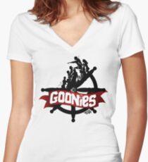 The Goonies - V2 Women's Fitted V-Neck T-Shirt