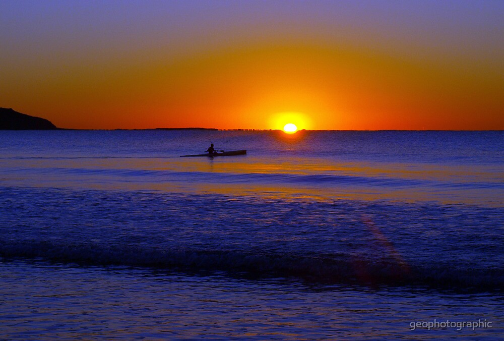 Paddle into the light by geophotographic