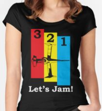 3, 2, 1, Let's Jam! Women's Fitted Scoop T-Shirt
