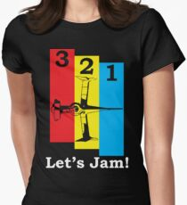 3, 2, 1, Let's Jam! Women's Fitted T-Shirt