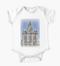 The Liver Building - Hand tinted effect One Piece - Short Sleeve