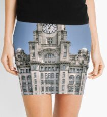 The Liver Building - Hand tinted effect Mini Skirt