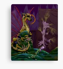 Insect Dragon on a Rock Canvas Print