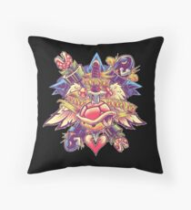 BOWSER NEVER LOVED ME (full color) Throw Pillow
