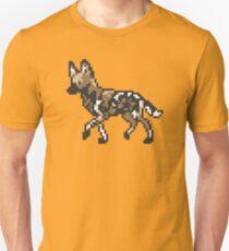 8bit African Wild Dog Unisex T-Shirt