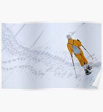Woman snowshoeing Poster