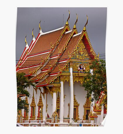 Against a thunderous sky - Chalong - Phuket Poster