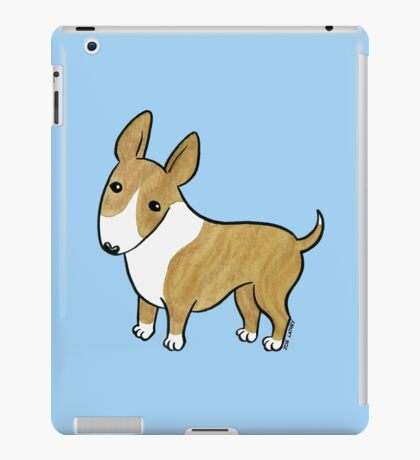 English Bull Terrier - Brindle and White iPad Case/Skin