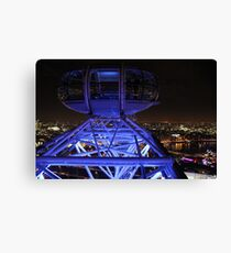 London Eye High in the Night Sky Canvas Print