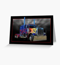 Optimus Prime Peterbilt Greeting Card