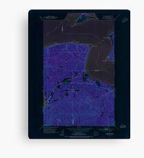 USGS Topo Map Washington State WA Gardiner 241249 1953 24000 Inverted Canvas Print