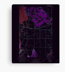 USGS Topo Map Washington State WA La Conner 241816 1956 24000 Inverted Canvas Print