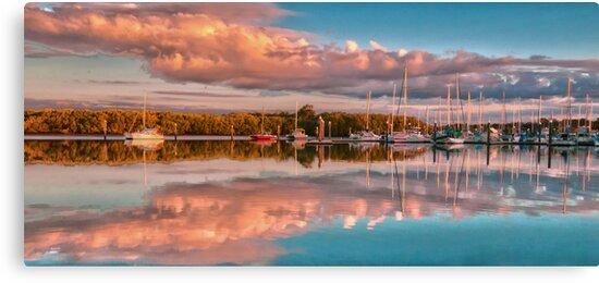 Marina Sunset Queensland Australia by PhotoJoJo