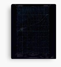 USGS Topo Map Washington State WA Hartline 241494 1968 24000 Inverted Canvas Print