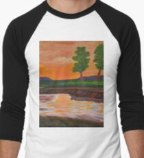 011 Landscape Men's Baseball ¾ T-Shirt