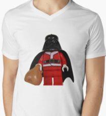 Santa Darth Vader Mens V-Neck T-Shirt