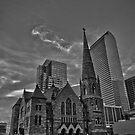Trinity Methodist Church B/W by anorth7