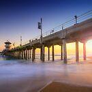 Huntington Beach Pier Sunset by Yhun Suarez