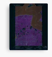 USGS Topo Map Washington State WA Gardiner 241248 1953 24000 Inverted Canvas Print