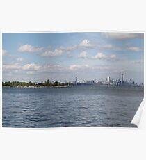 "Toronto (The 6) Skyline ""Halves"" Poster"