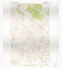 USGS Topo Map Washington State WA Telford 244223 1969 24000 Poster