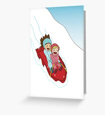 Sledding Greeting Card