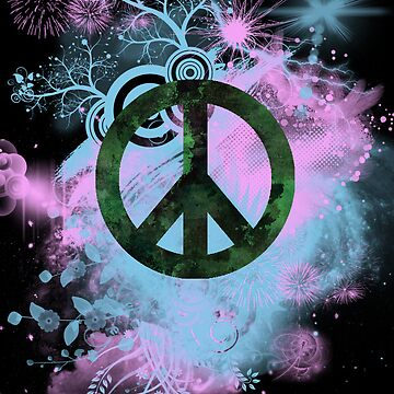 Blue/Pink Peace Sign Collage Case by designergirl86