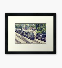 Passing Trains (Version 2) Framed Print