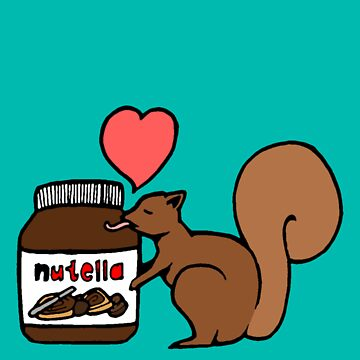 A Squirrel's Nutella (Teal) by sirmaverick