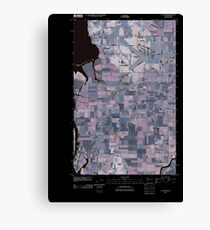 USGS Topo Map Washington State WA La Conner 20110504 TM Inverted Canvas Print