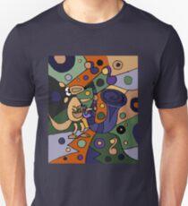 Funny Cool Kangaroo Playing Saxophone Art T-Shirt