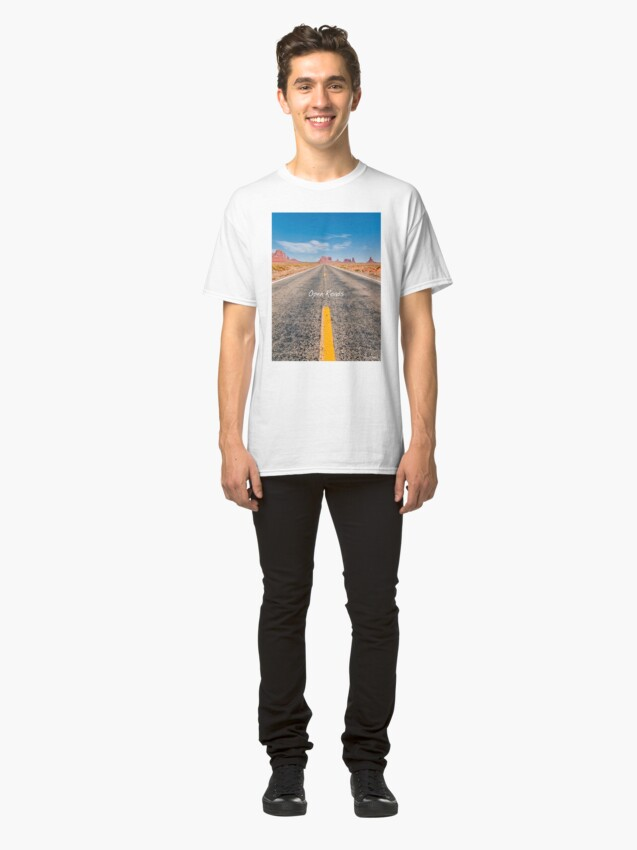 Alternate view of Where we're going, We don't need roads! Classic T-Shirt