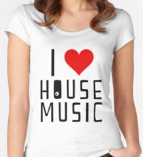 i love house music Women's Fitted Scoop T-Shirt