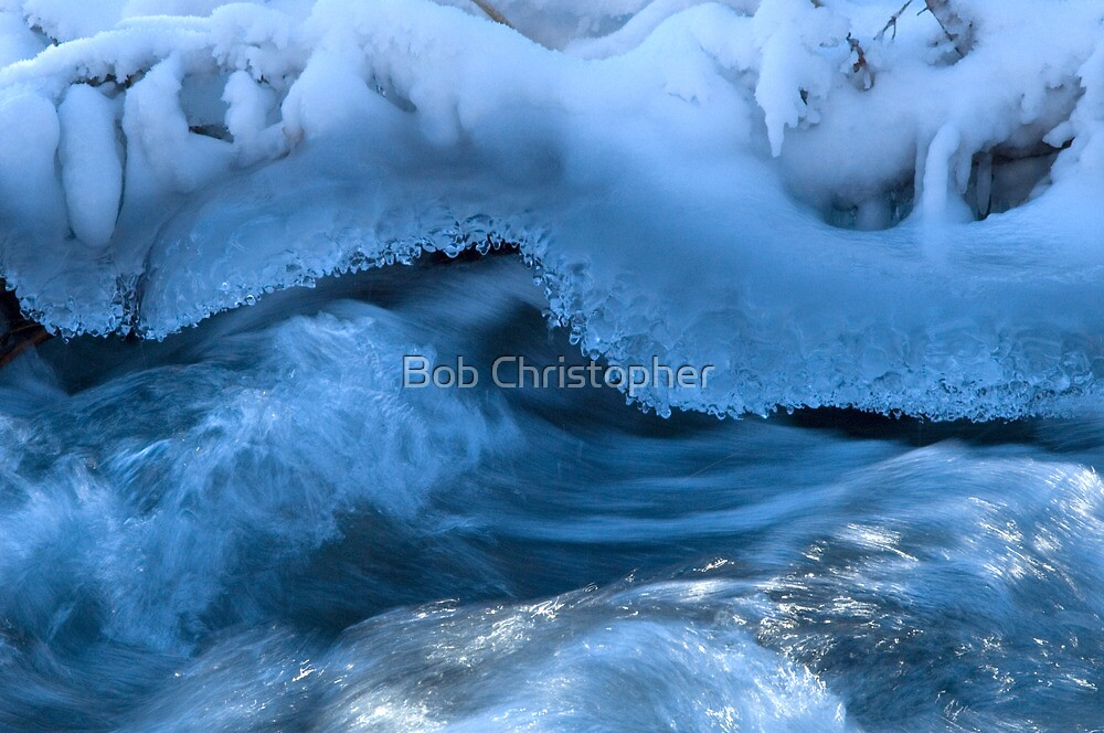 Ice And Snow On The Elbow River by Bob Christopher