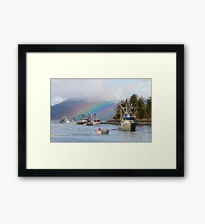 Opening Day-Sitka Sac Roe Herring Fishery Framed Print