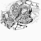 BBC Television Centre floorplan by unloveablesteve