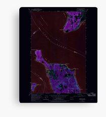 USGS Topo Map Washington State WA Hansville 241476 1953 24000 Inverted Canvas Print
