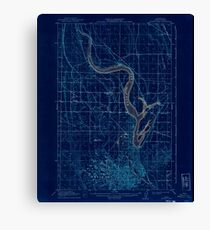 USGS Topo Map Washington State WA Moses Lake 242427 1912 62500 Inverted Canvas Print