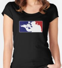 Major League fill in the blank... Women's Fitted Scoop T-Shirt