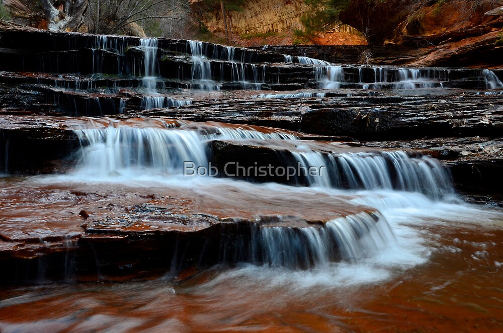 Waterfall On North Creek by Bob Christopher