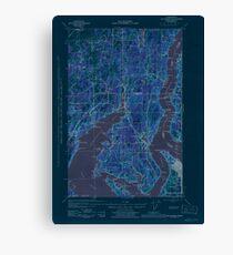 USGS Topo Map Washington State WA Gig Harbor 241265 1943 62500 Inverted Canvas Print