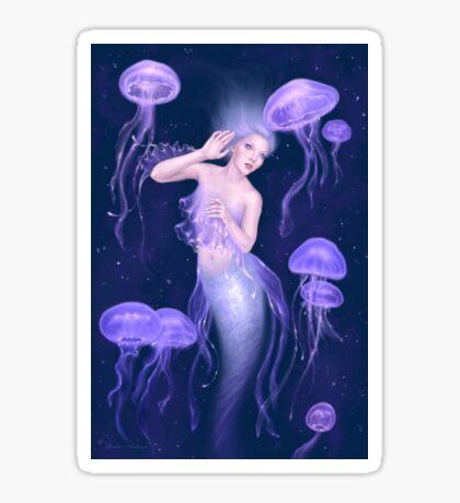 Bioluminescence Jellyfish Mermaid Sticker