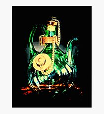 Reflective Glass Decanter  Photographic Print