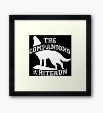 The companions of Whiterun - White Framed Print