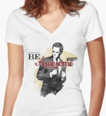 Be Awesome Women's Fitted V-Neck T-Shirt