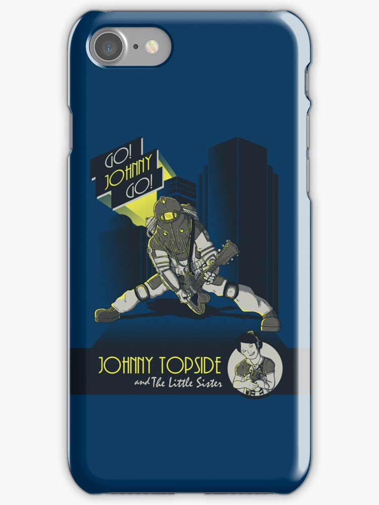 Rock Daddy - encore iPhone Cases by monochromefrog