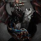 Lady-knight on Dragon by StudioColrouphobia