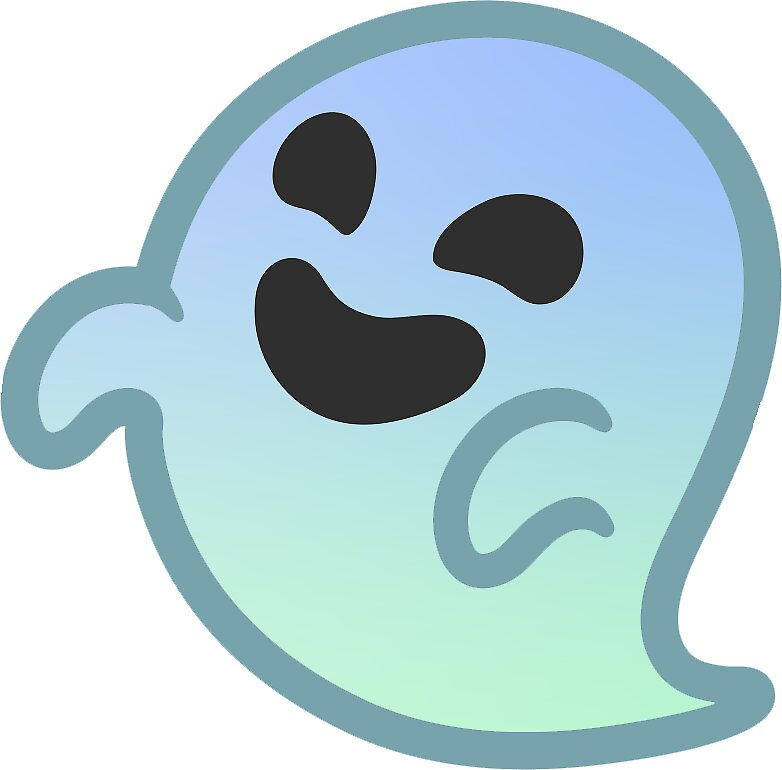 Quot Gradient Android Ghost Emoji Quot Stickers By Baiiley Redbubble