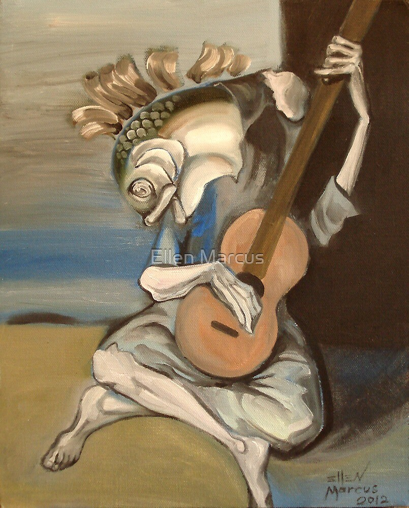 Old Fish With Guitar by Ellen Marcus